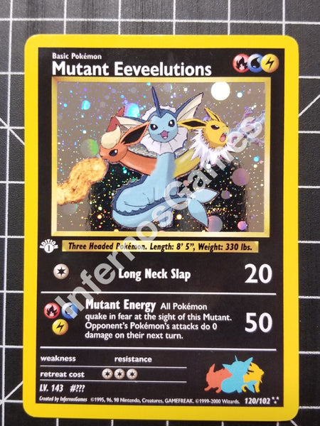 1St Edition Holo Mutant Eeveelution Vintage Wotc Style Custom Pokemon Card Cosmos