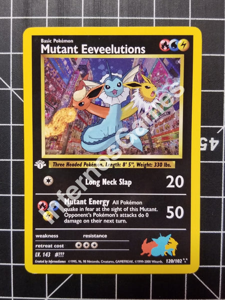 1St Edition Holo Mutant Eeveelution Vintage Wotc Style Custom Pokemon Card Non
