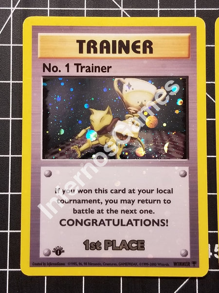 1St Edition Trophy Abra Winner Champion Tournament Card Set 2Nd 3Rd Place Holo