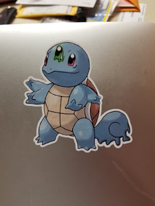 Mutant Squirtle Vinyl Decal Sticker