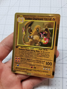 Golden Charizard Custom Card (Holo, Vintage Style)