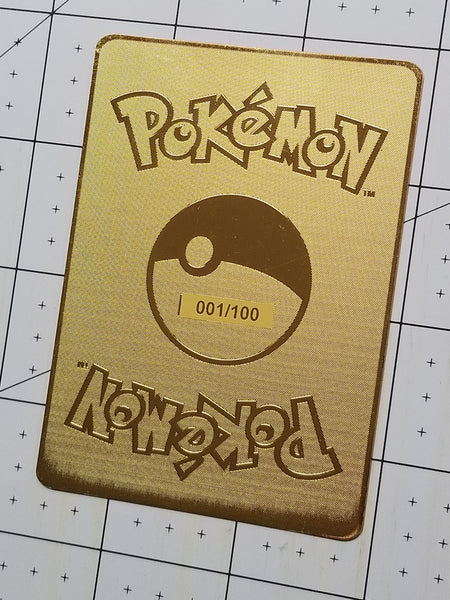 1/100 LIMITED EDITION FULL METAL Golden Charizard Luxury Custom Card