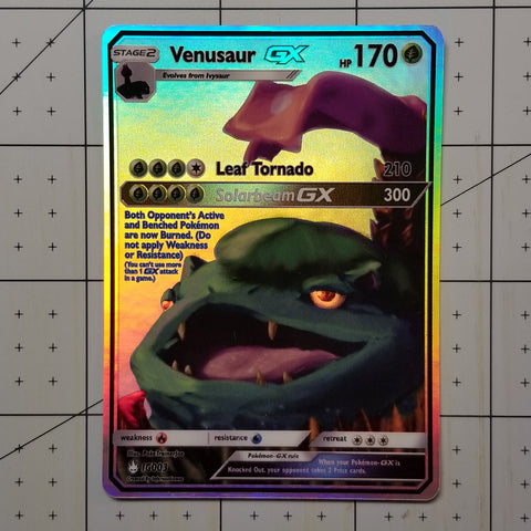 Venusaur GX Full Art Rainbow Holo Custom Card
