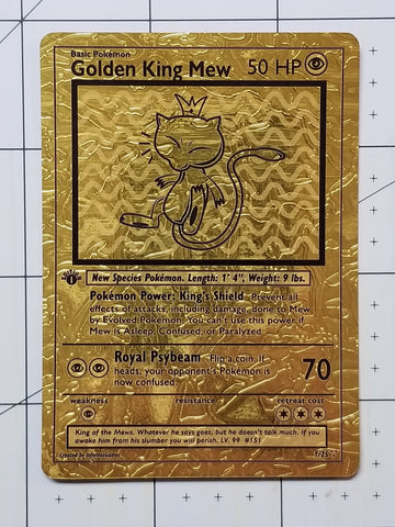 1/25 Limited Edition Golden King Mew ULTRA LUXURY Gold Holo Custom Card