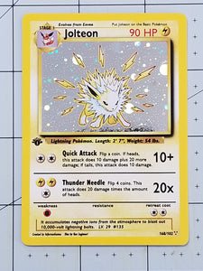 Jolteon Custom Card (Holo, Vintage Style)