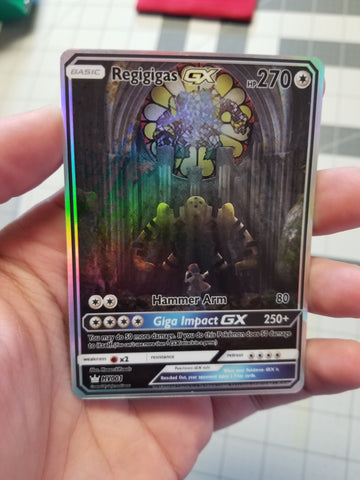 Regigigas GX #Regiartchallenge 1st Place Full Art Rainbow Holo Custom Card