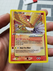 Gold Star Shiny Ho-oh Realistic Holo Custom Card