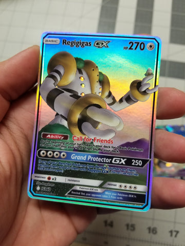 Regigigas GX #Regiartchallenge 2nd Place Full Art Rainbow Holo Custom Card