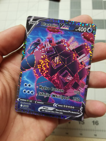 Blastoise V Max Full Art Rainbow Sparkle Holo Custom Card