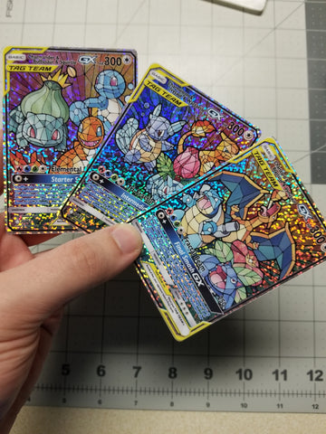 1/25 Limited Edition Stained Glass Starters Trio Set Custom Cards (sparkle holo)