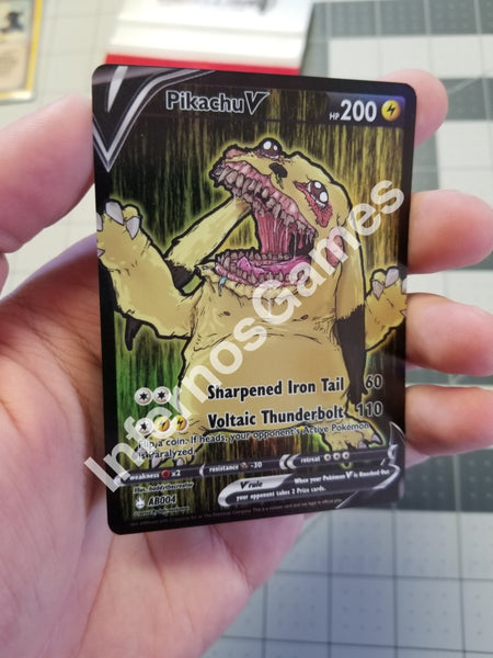 Abomination Pikachu V Full Art Rainbow Holo Custom Card