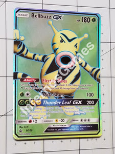 Bellbuzz Fusion Gx Full Art Rainbow Holo Custom Card (Bellsprout & Electabuzz)
