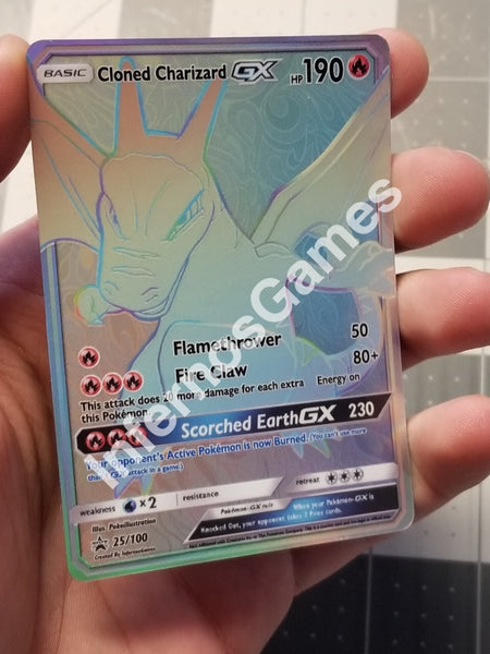 Cloned Charizard Gx Hyper Rainbow Rare Custom Card
