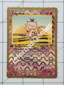 King Mew Custom Card (Metallic Holo Vintage Style)
