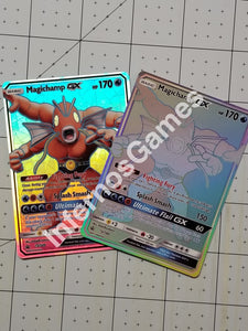 Magichamp Fusion Gx Full Art Rainbow Holo Custom Card (Magikarp & Machamp)