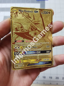 Mega Rayquaza Gx Full Art Gold Leaf Holo Custom Card