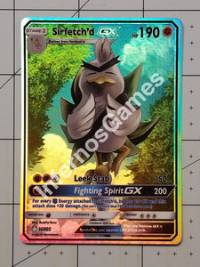 Sirfetchd Gx Full Art Rainbow Holo Custom Card