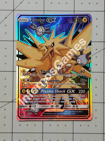 Zapdos Gx Full Art Rainbow Holo Custom Card