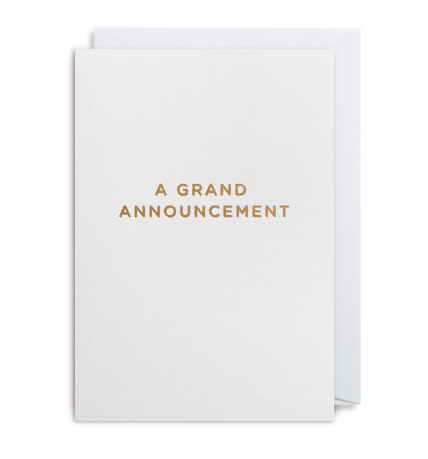 A Grand Announcement - Lagom Design