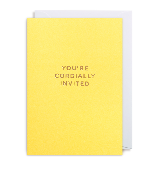 You're Cordially Invited Notecard - Lagom Design
