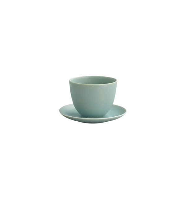 Pebble Cup & Saucer, Moss Green