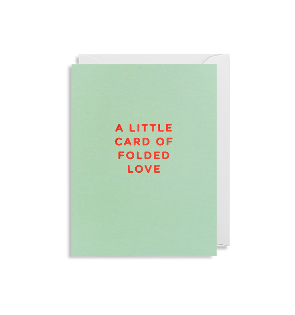 A Little Card of Folded Love - Lagom Design