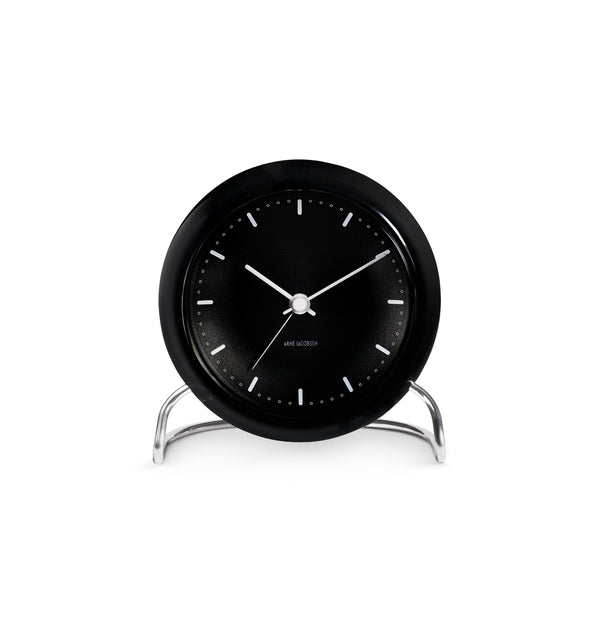 City Hall Table Clock, Black