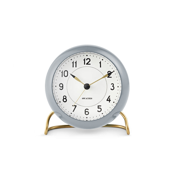 Station Table Clock, Grey