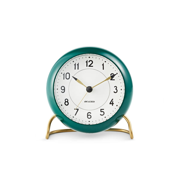 Station Table Clock, Green