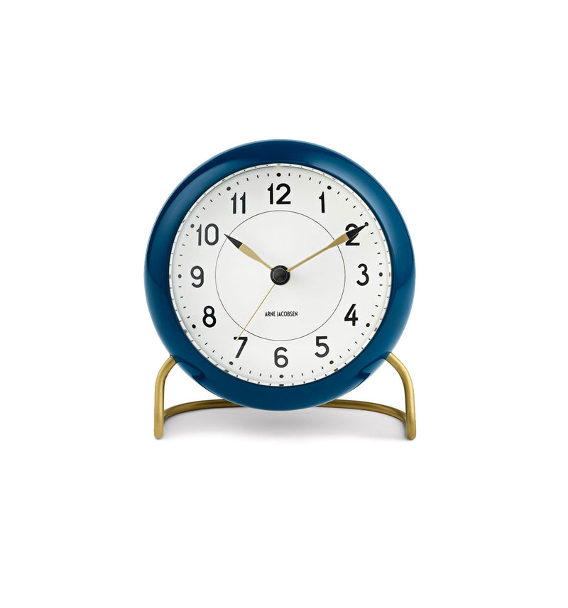 Station Table Clock, Teal