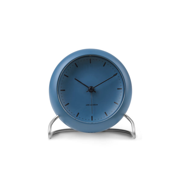 City Hall Table Clock, Stone Blue
