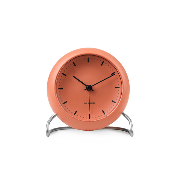 City Hall Table Clock, Pale Orange