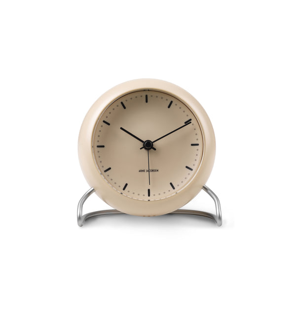 City Hall Table Clock, Sandy Beige