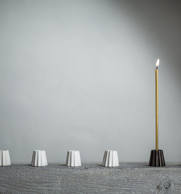 Ceramic Candle Holder - White - Lagom Design