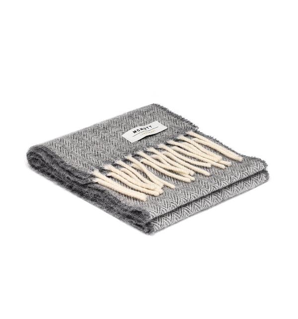 Children's Lambswool Scarf & Box, Grey