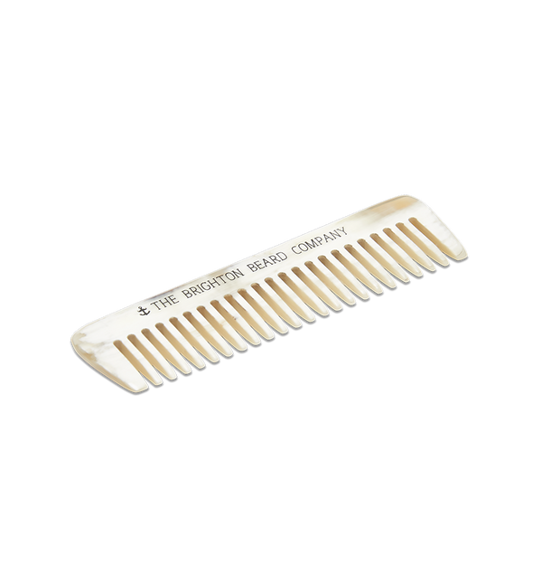 Ox Horn Beard Comb (with leather sheath)