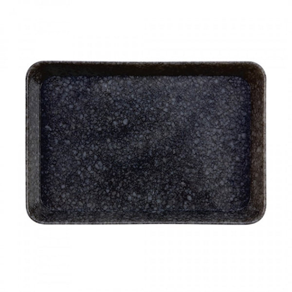 Marbled Desk Tray - Black, Medium