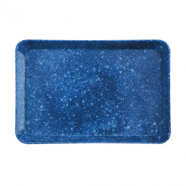Marbled Desk Tray - Navy, Medium