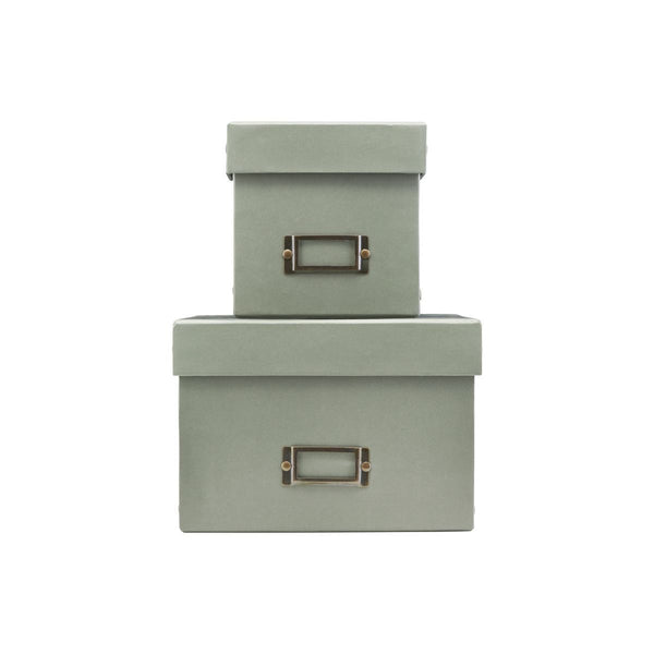 Set of 2 Storage Boxes with Lids, Low