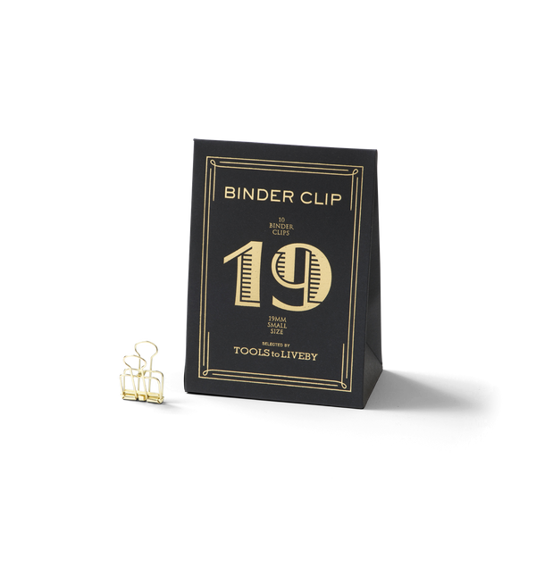 No. 19 Binder Clips - Gold