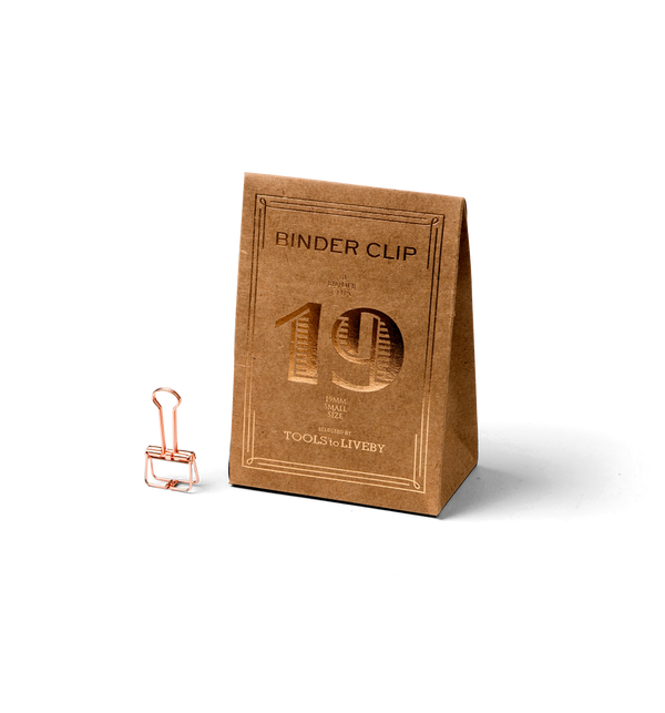 No. 19 Binder Clips - Rose