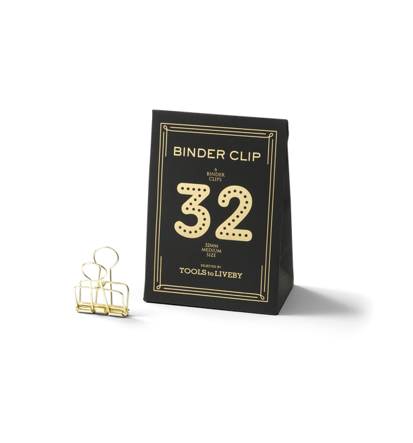 No. 32 Binder Clips - Gold