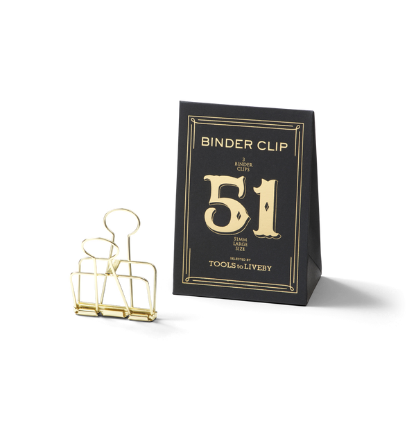 No. 51 Binder Clips - Gold