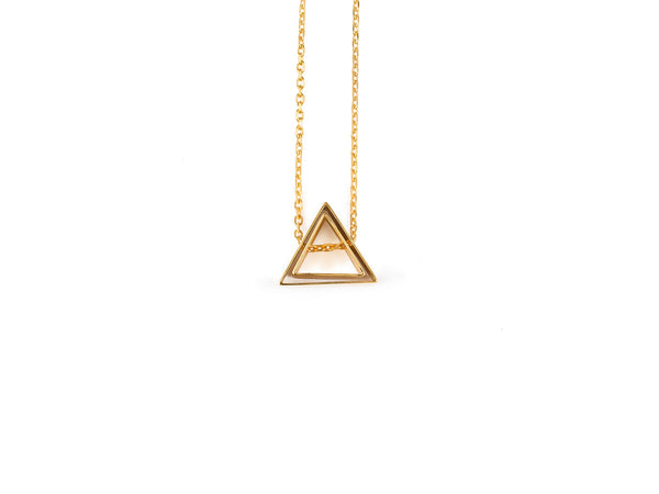 Triangle in Triangle Necklace - Gold