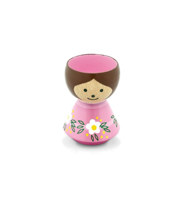 Pink Girl Eggcup