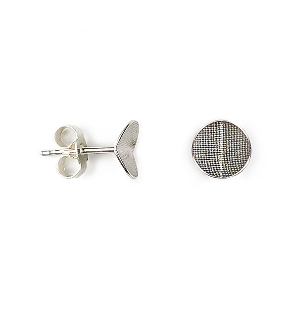 Point 4 Stud - Circle Bent, Silver