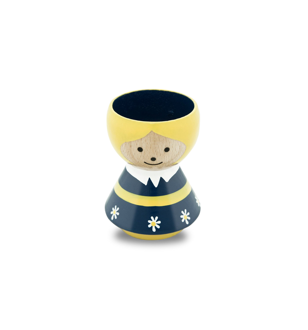 Swedish Girl Wooden Eggcup