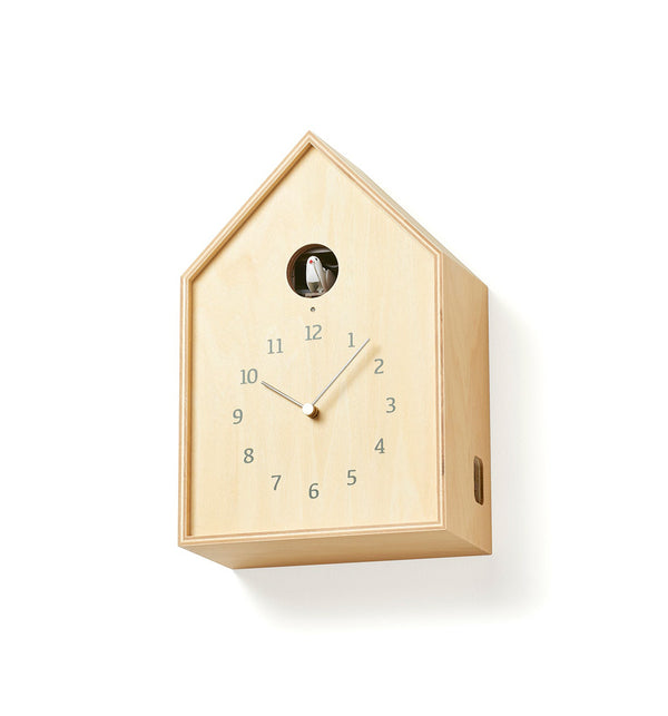 Lemnos Birdhouse Cuckoo Clock - Natural