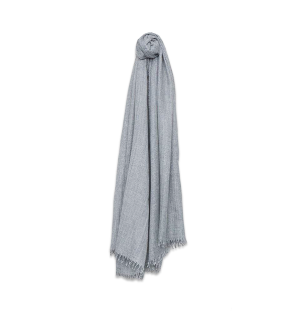 Staffa Cashmere Silk Scarf, Granite
