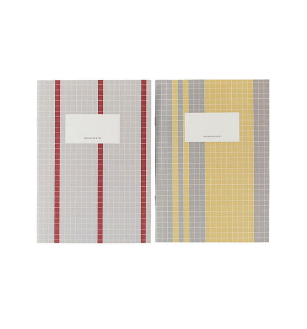 A4 Notebook - Grey/Yellow, 2 pack